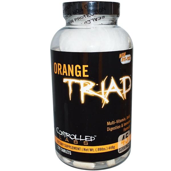 Orange Triad, поливитамин, формула для суставов, пищеварения и иммунитета, 270 таблеток
