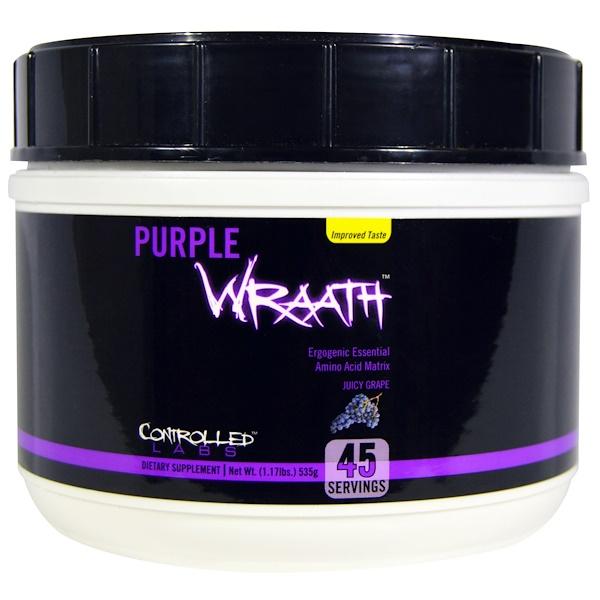 """Controlled Labs, """"Фиолетовый гнев"""", сочный виноград, 1,17 фунта (535 г)"""