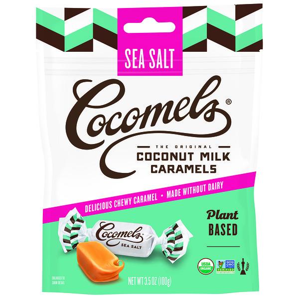 Органическая карамель с кокосовым молоком, с морской солью, 3,5 унц. (100 г)
