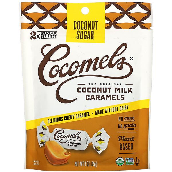 Organic, Coconut Milk Caramels, Coconut Sugar, 3 oz (85 g)