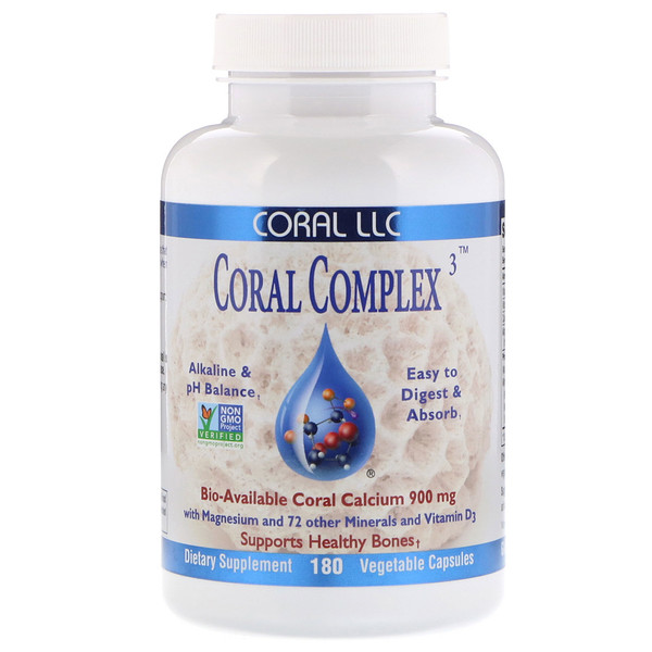 CORAL LLC, Coral Complex 3, 180 Vegetable Capsules (Discontinued Item)