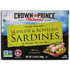 Crown Prince Natural, Сардины, очищенные от костей и кожи в чистом оливковом масле 3,75 унц. (106 г)