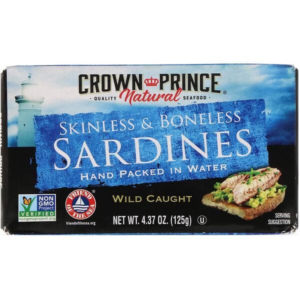 Сардины, без шкурки и костей, в собственном соку, расфасованы вручную, 125 г