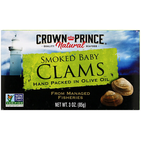 Smoked Baby Clams in Olive Oil, 3 oz (85 g)