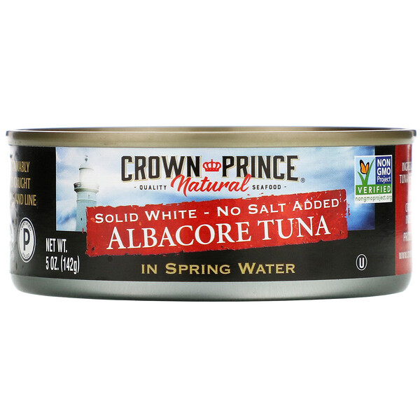 Длинноперый тунец, Плотное белое мясо - Без добавления соли, В пресной воде, 5 унций (142 г)