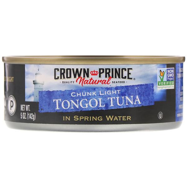 Кусочки легкого тунца тонгол, в родниковой воде, 5 унций (142 г)