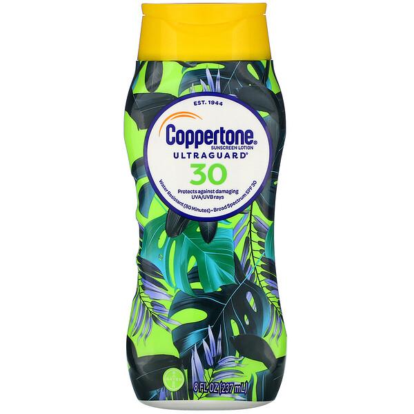 Coppertone, Ultra Guard, Sunscreen Lotion, SPF 30, 8 fl oz (237 ml)