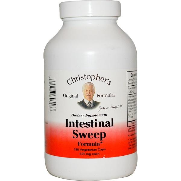 Christopher's Original Formulas, Intestinal Sweep Formula, 625мг, 180вегетарианских капсул