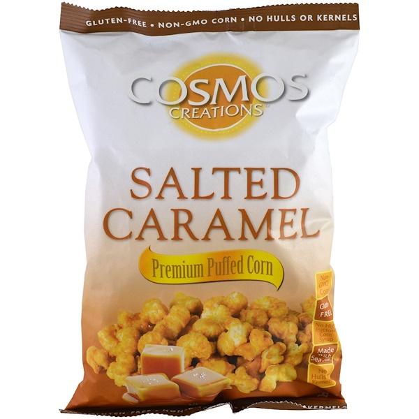 Cosmos Creations, Воздушная кукуруза премиум, соленая карамель, 6.5 унций (184.3 г) (Discontinued Item)