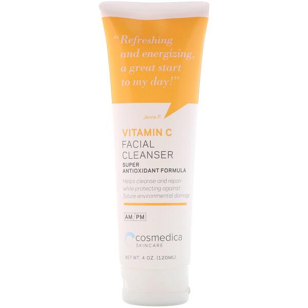 Cosmedica Skincare, Очищающее средство для лица с витамином C, суперантиоксидантная формула, 4 унц. (120 мл)