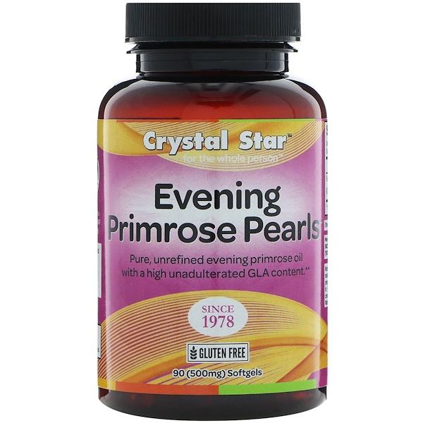 Crystal Star, Жемчужины вечерней примулы, 500 мг, 90 мягких таблеток (Discontinued Item)
