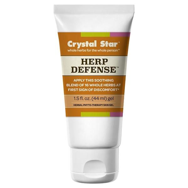 Crystal Star, Гель для защиты от герпеса, 1,5 жидкие унции (44 мл) (Discontinued Item)