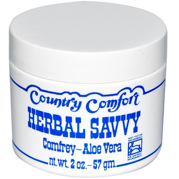 Herbal Savvy, Comfrey-Aloe Vera, 2 oz (57 g)