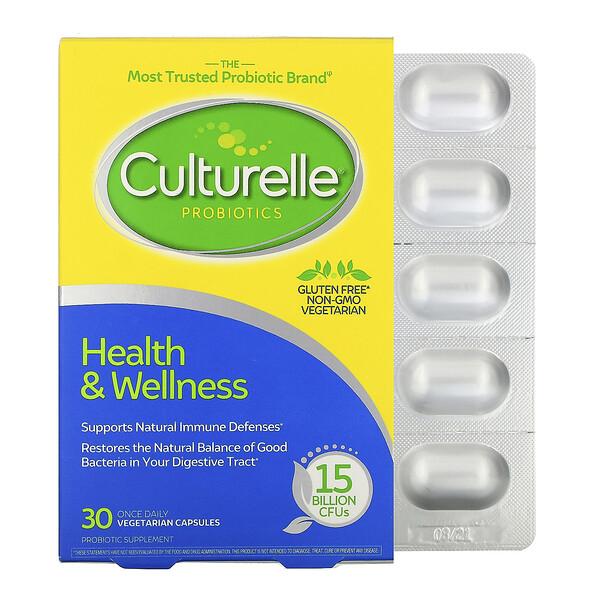 Пробиотики, здоровье и хорошее самочувствие, 15миллиардовКОЕ, 30вегетарианских капсул для приема один раз в день