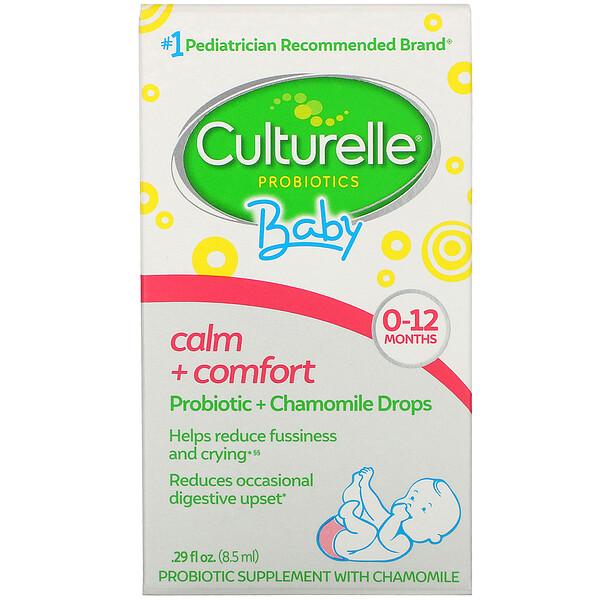 Пробиотики, для детей, «Спокойствие и комфорт», пробиотики+ромашка в виде капель, от рождения до 12 месяцев, 8,5мл, (0,29жидк.унции)