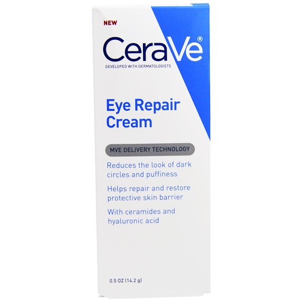 CeraVe, восстанавливающий крем для кожи вокруг глаз, 14,2 г (0,5 унции) (Discontinued Item)