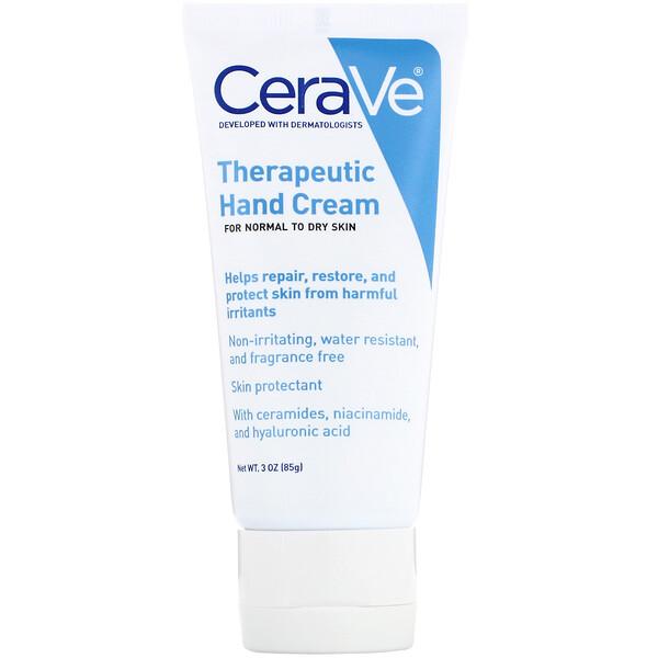 CeraVe, Терапевтический крем для рук, 3 унции (85 г) (Discontinued Item)