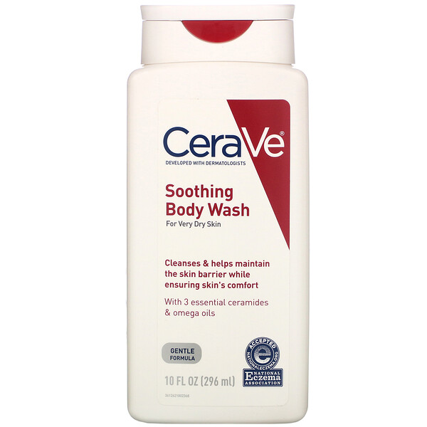 CeraVe, Soothing Body Wash, For Very Dry Skin, 10 fl oz (296 ml)