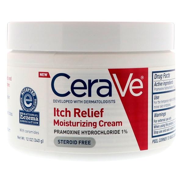 CeraVe, Увлажняющий крем, облегчающий зуд, 12 унц. (340 г) (Discontinued Item)