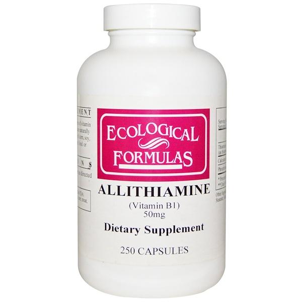 аллитиамин (витамин В1), 50 мг, 250 капсул