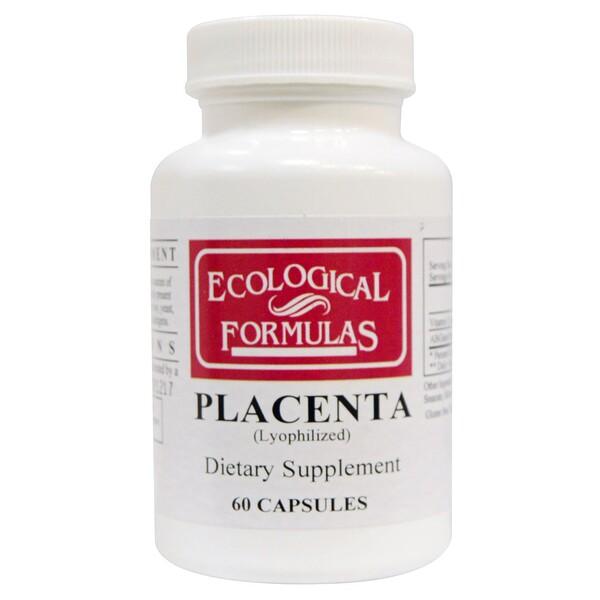Ecological Formulas, плацента (лиофилизованная), 60 капсул