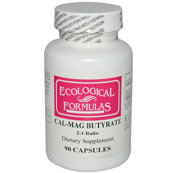 Cardiovascular Research, Ecological Formulas, Cal-Mag Butyrate, 90 Capsules (Discontinued Item)