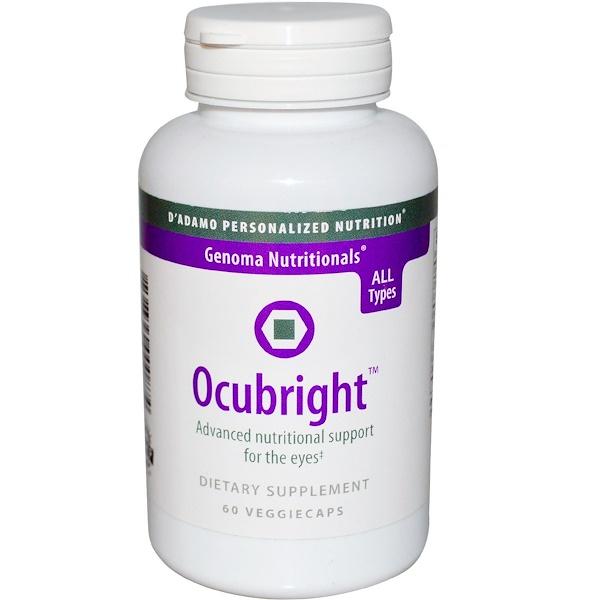 D'adamo, Genoma Nutritionals, Ocubright, 60 Veggie Caps (Discontinued Item)