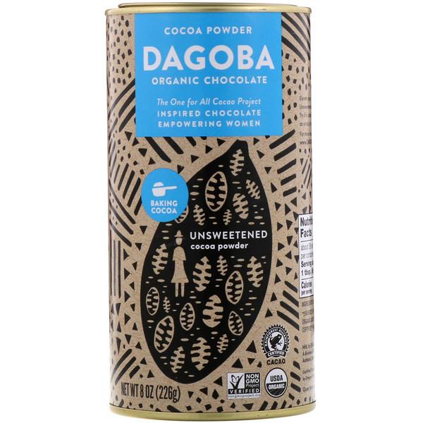 Dagoba Organic Chocolate, Cocoa Powder, Unsweetened, 8 oz (226 g) (Discontinued Item)