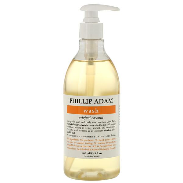 Phillip Adam, Wash, Original Coconut, 13.5 fl oz (400 ml)