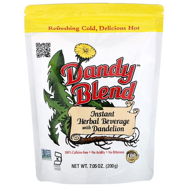 Instant Herbal Beverage with Dandelion (Растворимый травяной напиток с одуванчиком), без кофеина, 200 г (7,05 унции)