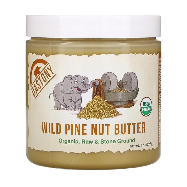 Dastony, Wild Pine Nut Butter, Organic, Raw & Stone Ground, 8 oz (227 g)