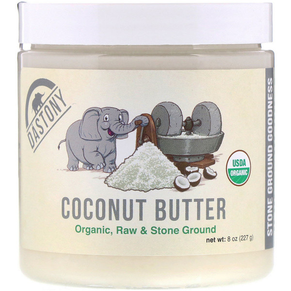 Dastony, кокосовое масло, на 100 % органическое, 227 г (8 унций) (Discontinued Item)