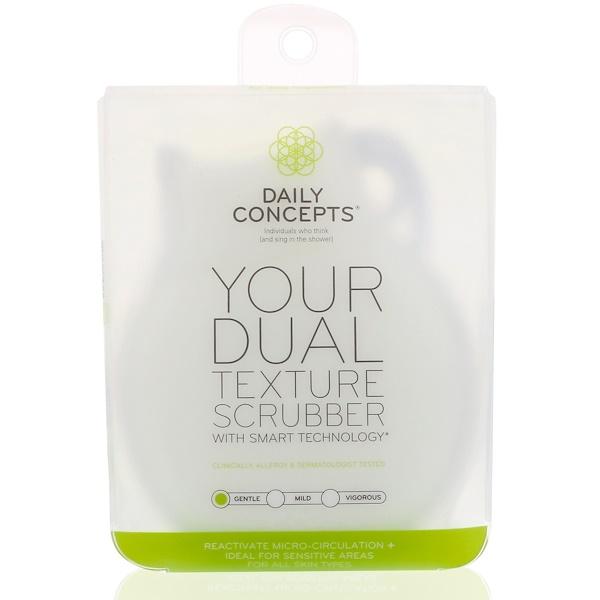 Daily Concepts, Ваш скребок с двумя текстурами, мягкий, 1 скребок (Discontinued Item)