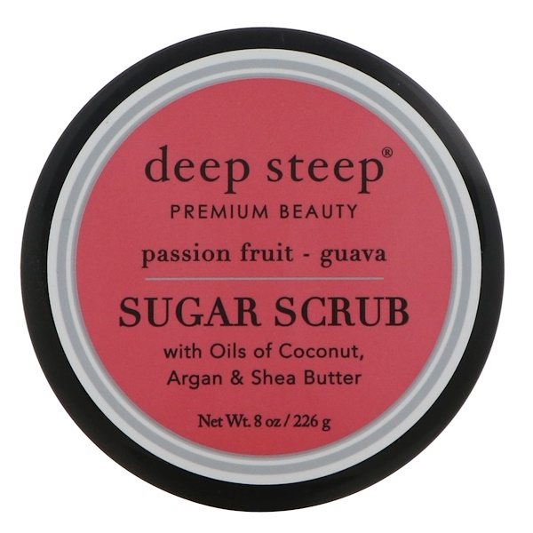 Deep Steep, Сахарный скраб, маракуйя и гуава, 8 унций (226 г)