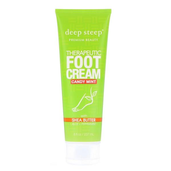 Deep Steep, Лечебный крем для ног, мятные леденцы, 8 ж. унц. (237 мл)
