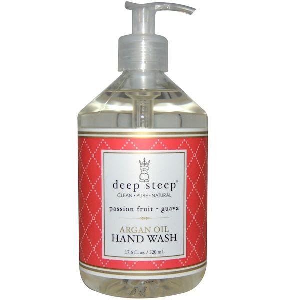 Deep Steep, Средство для мытья рук с аргановым маслом, гуава и маракуйя, 17.6 жидких унций (520 мл) (Discontinued Item)