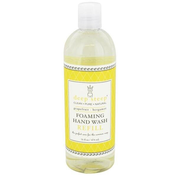 Пенящееся мыло для рук, запасной блок, грейпфрут и бергамот, 474мл (16жидк.унций)