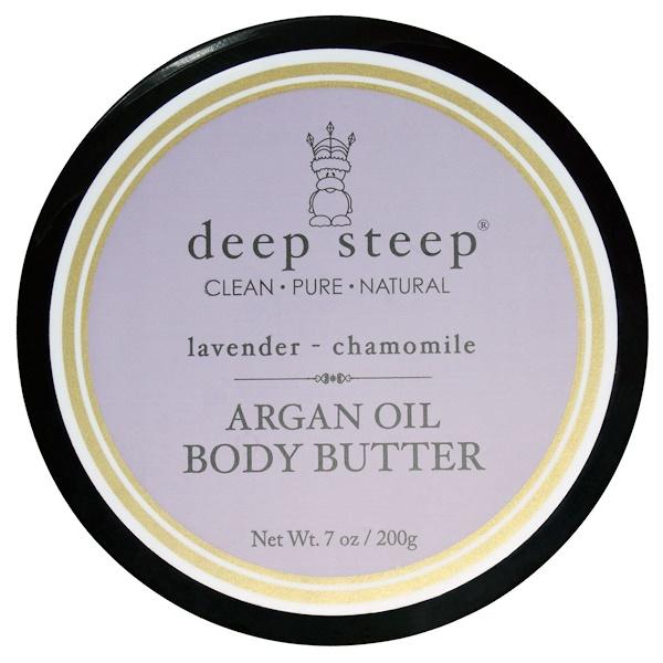 Deep Steep, Аргановое масло для тела, с лавандой и ромашкой, 7 унций (200 г) (Discontinued Item)