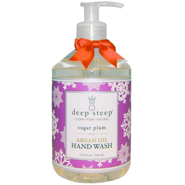 Deep Steep, Argan Oil Hand Wash, Sugar Plum, 17.6 fl oz (520 ml) (Discontinued Item)