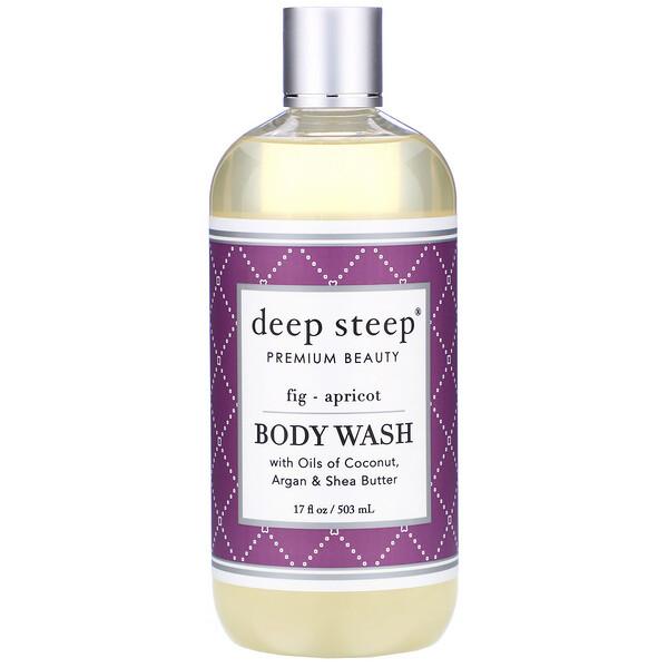 Body Wash, Fig - Apricot, 17 fl oz (503 ml)