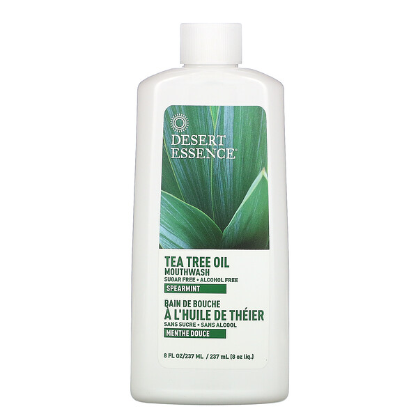 Tea Tree Mouthwash, Spearmint , 8 fl oz (236 ml)