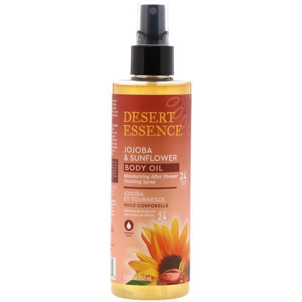 Jojoba & Sunflower Body Oil Spray, 8.28 fl oz (245 ml)