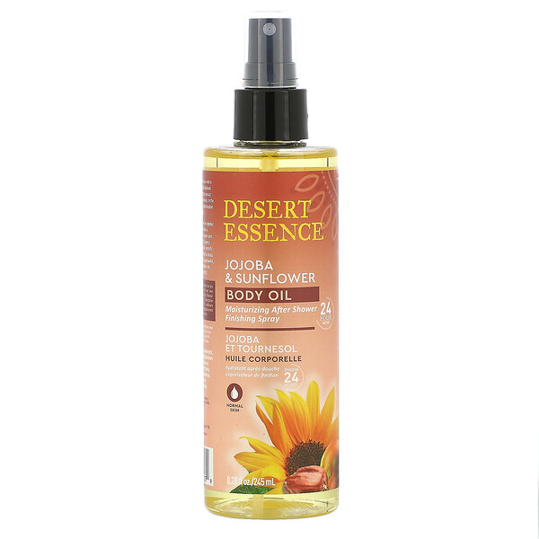 Jojoba & Sunflower Body Oil Spray, 8.28 fl oz (245 ml)