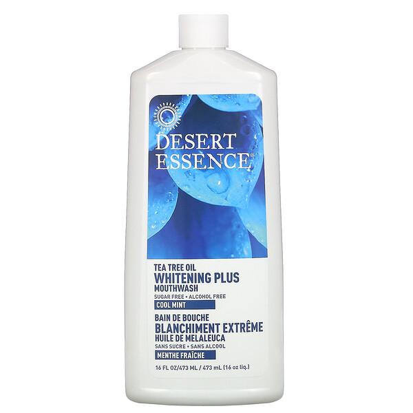 Desert Essence, Отбеливатель плюс ополаскиватель, свежая мята, 16 жидких унций (480 мл)