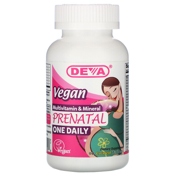 Vegan Prenatal Multivitamin & Mineral, One Daily, 90 Coated Tablets