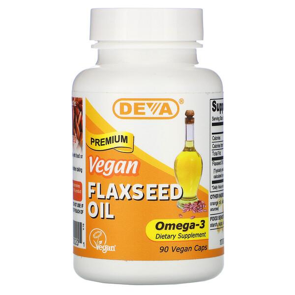Premium Vegan Flaxseed Oil, 90 Vegan Caps