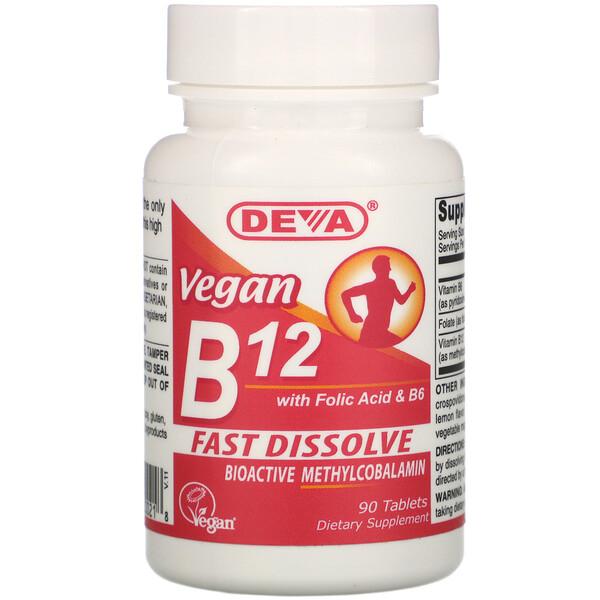 Vegan B12 with Folic Acid & B6, 90 Tablets