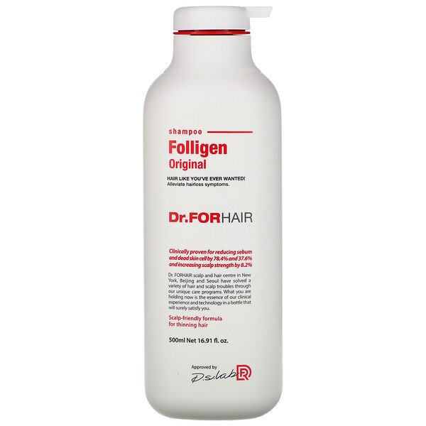 Folligen Shampoo, 16.91 fl oz (500 ml)