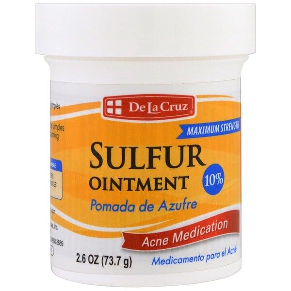 Серная мазь, лечение акне, максимальный эффект, 2.6 унции (73.7 г)