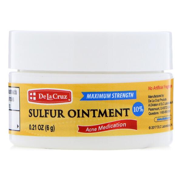 Серная мазь, средство против медикаментов, максимальная сила, 0,21 унц. (6 г)